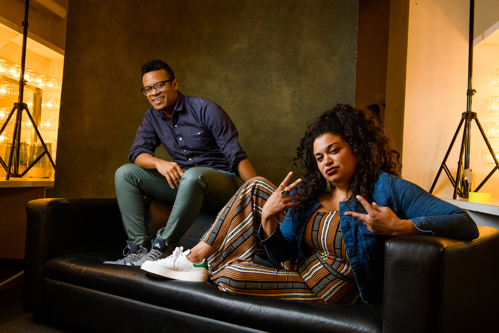 Jordan Carlos and Michelle Buteau