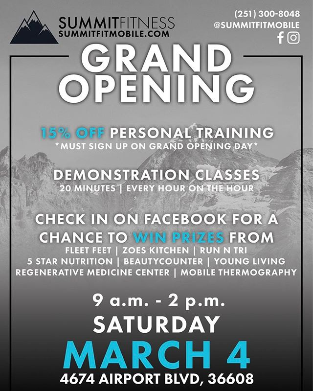 We are SO excited for our grand opening on Saturday! Come by to see why Summit Fitness is your next gym!