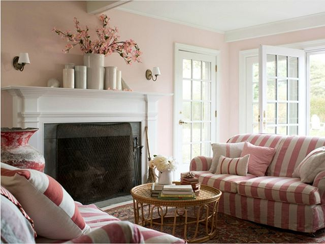 Add a feminine touch with a pale pink wall color!