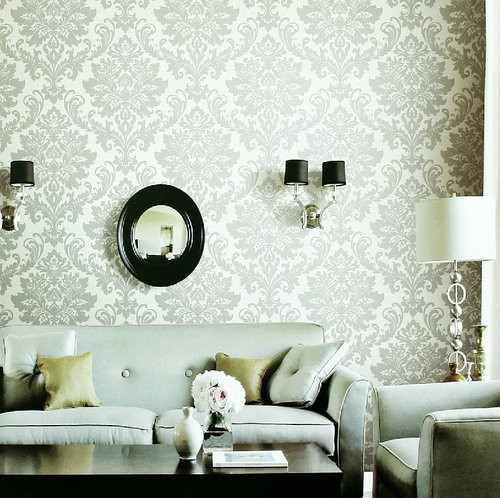 white-gray-fleur-de-lis-wallpaper-living-room.jpeg