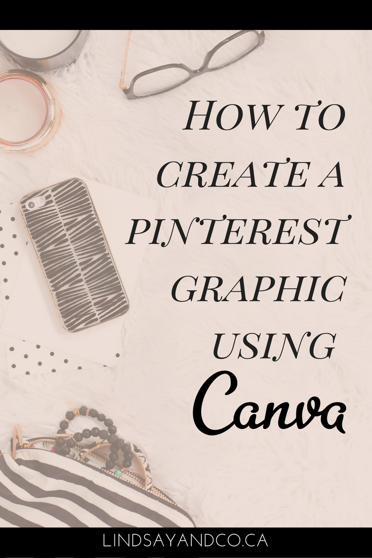 How to create pinterest graphic in canva