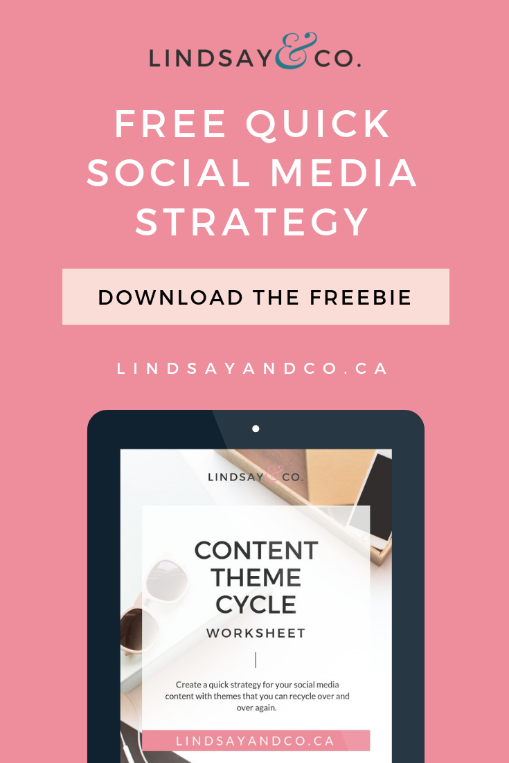 How would you like to save some time scheduling your social media content by creating a simple strategy that will make caption creation so much easier than it's ever been? Download your free Content Theme Cycle worksheet and I'll show you how I plan my social media content in batches!   #socialmedia #instagram #marketing