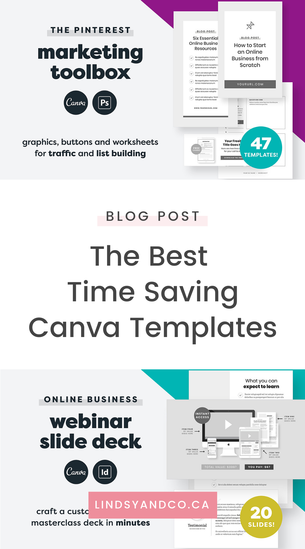 There are tons of ways to save time but I find the easiest is to purchase a few inexpensive templates for canva. These templates are so easy to customize and they look amazing too. Read more about how i use these templates to save time.