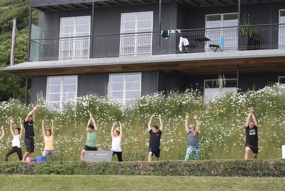 yoga retreat at chalet saunton