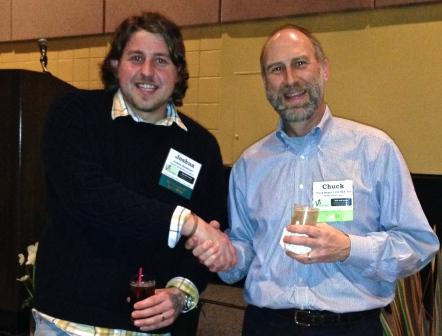 Joshua with Chuck Burget  RPF Scholarship Chairman