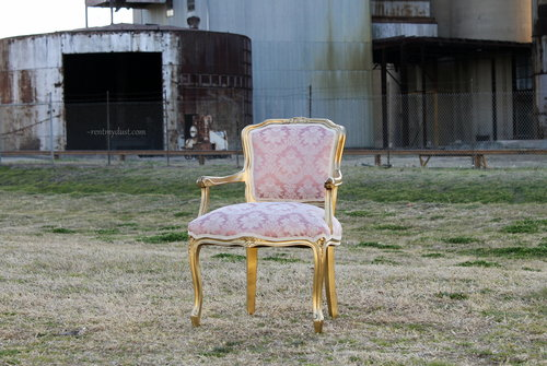 Pink Gold Arm Chair Clarke Rent My Dust