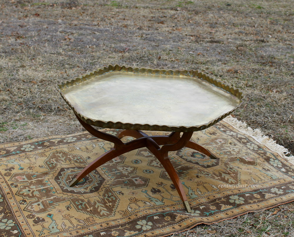Moroccan LARGEST Brass Coffee Table