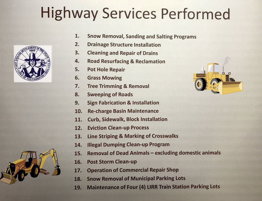 This list was provided by Alex Gregor and shown at the meeting.