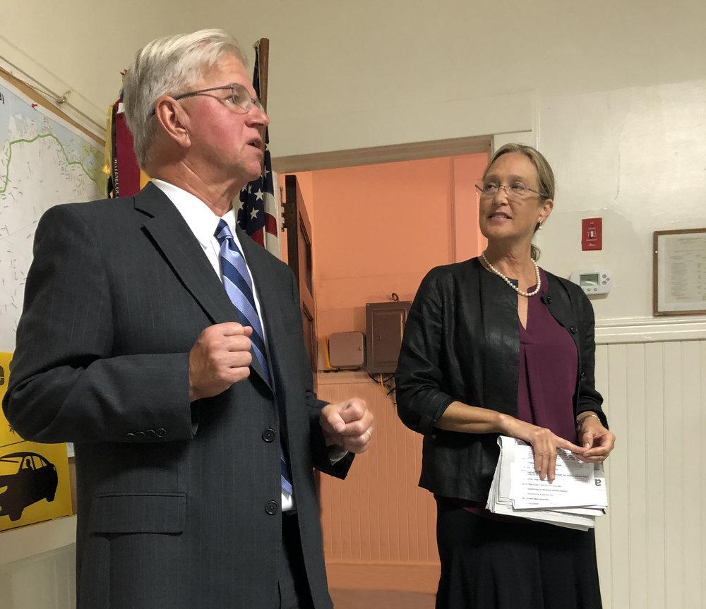 NYS Assemblyman Fred Thiele and SC Legislator Bridget Flemming