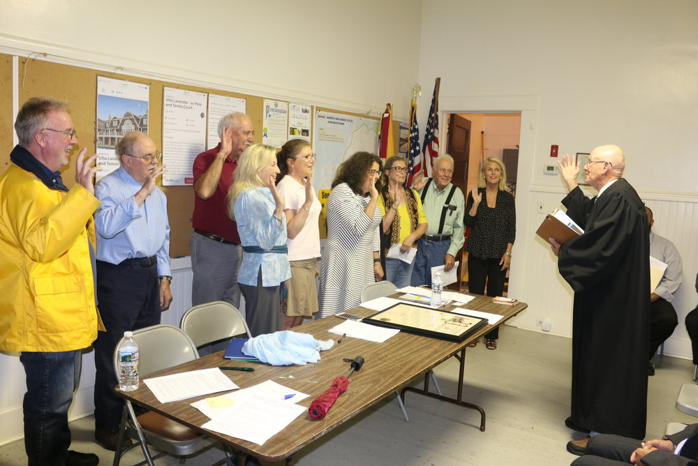 NCC Officers swearing in for service by Judge Burke