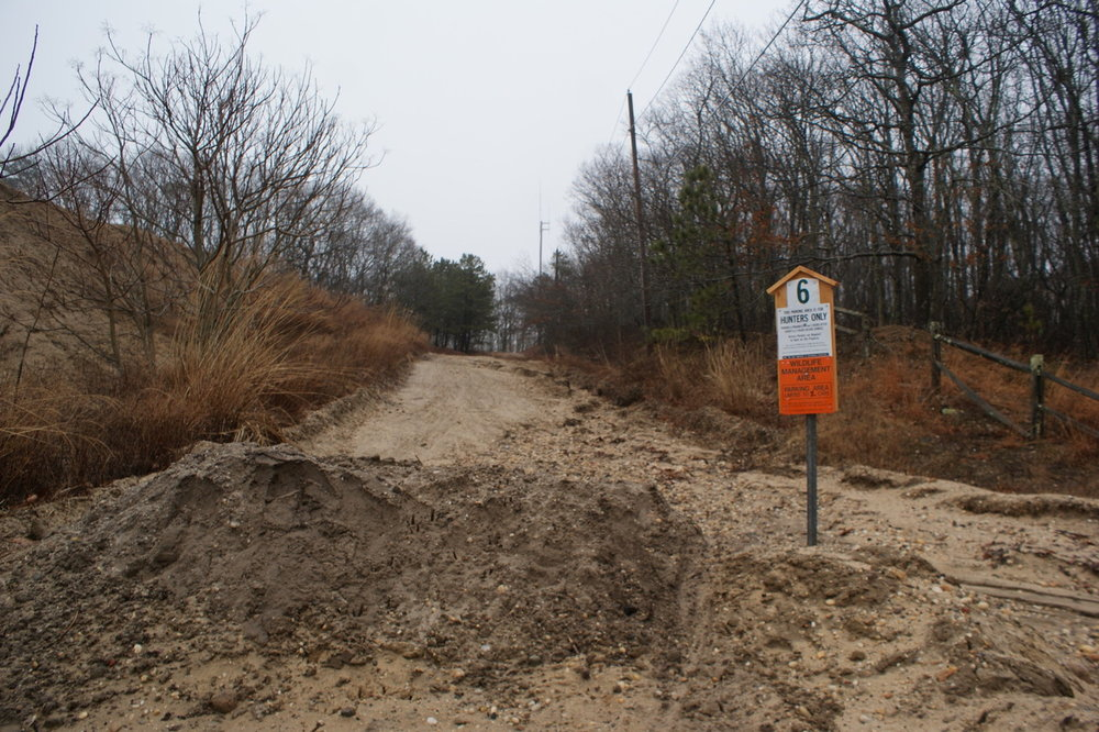 Town designated trails have been blocked