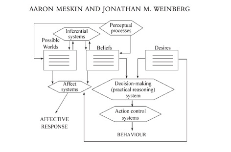 Figure B:   From Meskin & Weinberg (2003)  British Journal of Aesthetics.   Here the Affect systems do take input from the Desire Box.