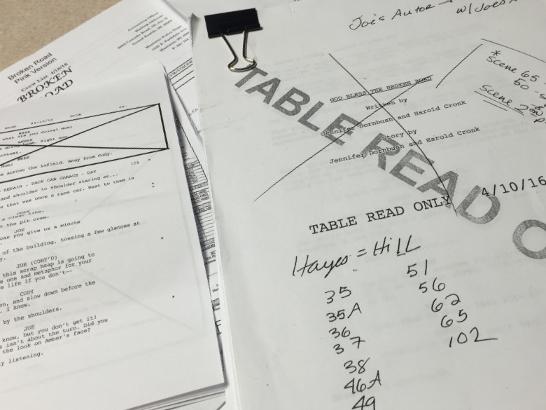 The original shooting script by Jennifer Dornbush & Harold Cronk.