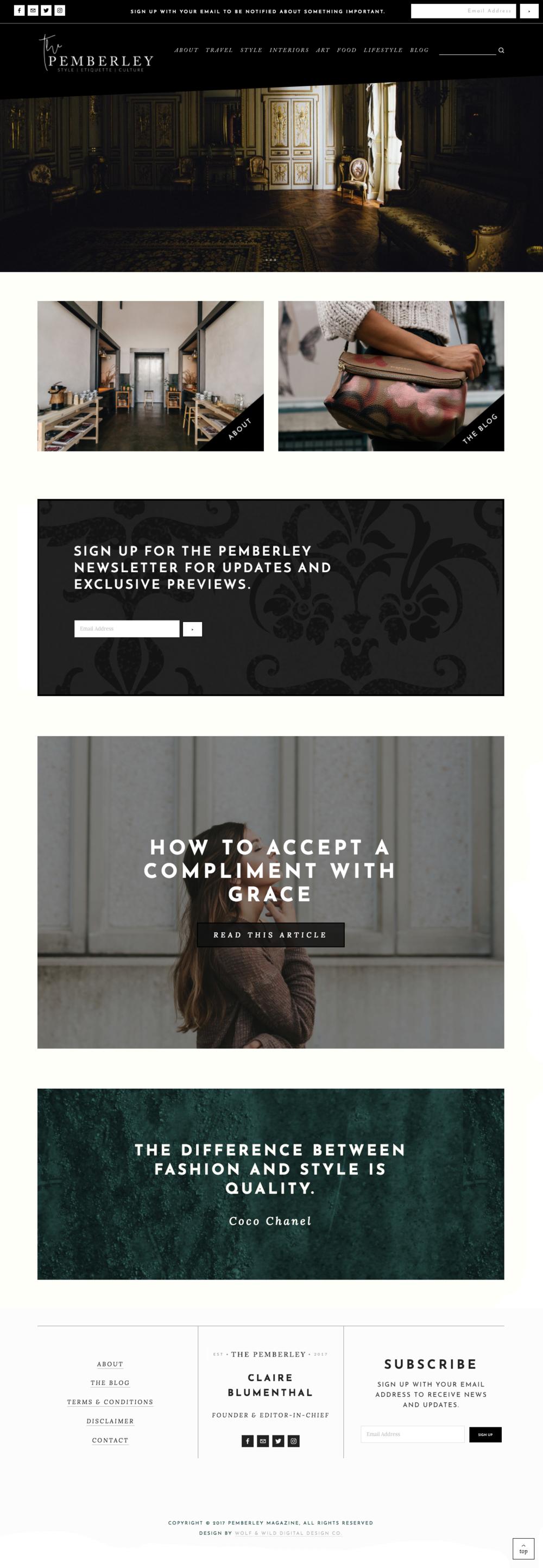 Pemberley Magazine Website