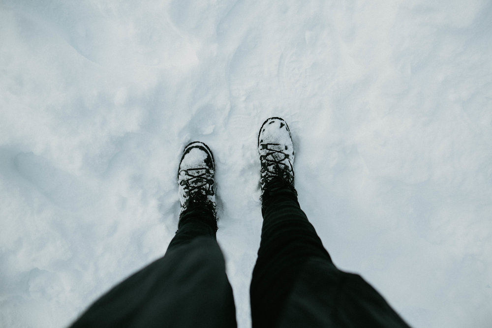 standing ON Lake Louise