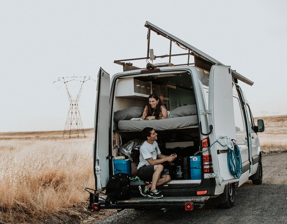 V&M: Together we saved up, built our home on wheels and set out on a adventure of a lifetime: building a life we don't need a vacation from.