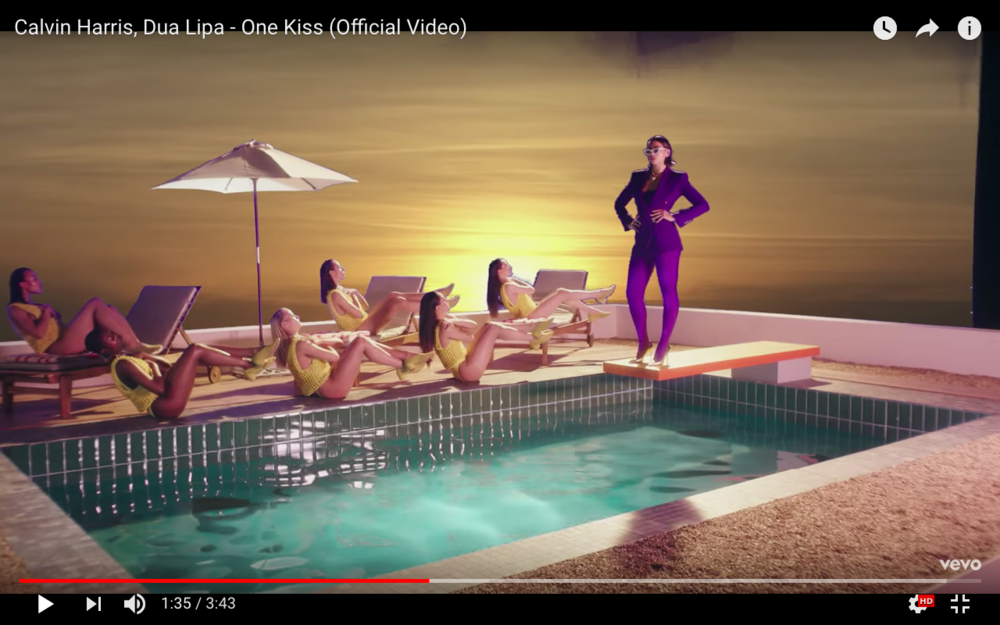 'ONE KISS' music video