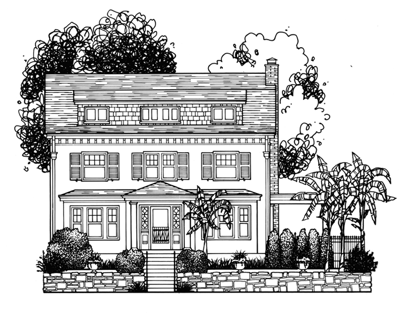 Architectural Illustration in Longfellow, MO.