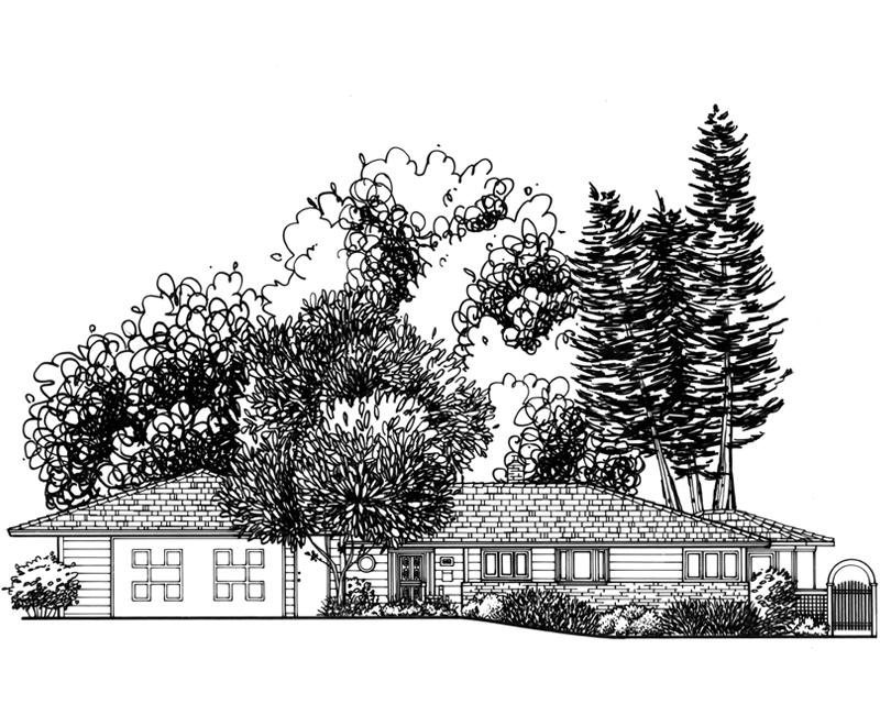 St. Paul Mid Century Custom Home Drawing