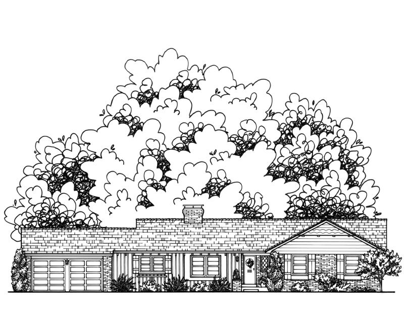 Katie Danner Custom Home Drawing