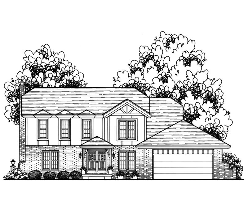 Charming Custom Home Drawing