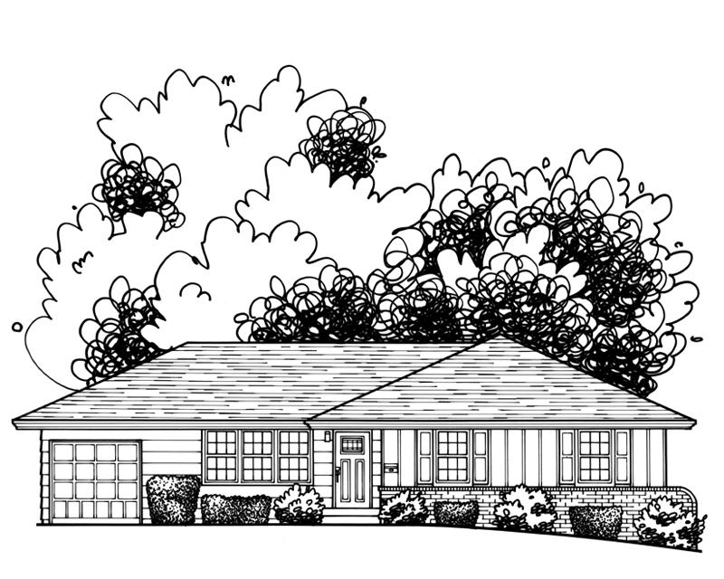 61 Katie Danner Studio Custom Architectural Home Drawing Kansas City Real Estate illustration.jpg