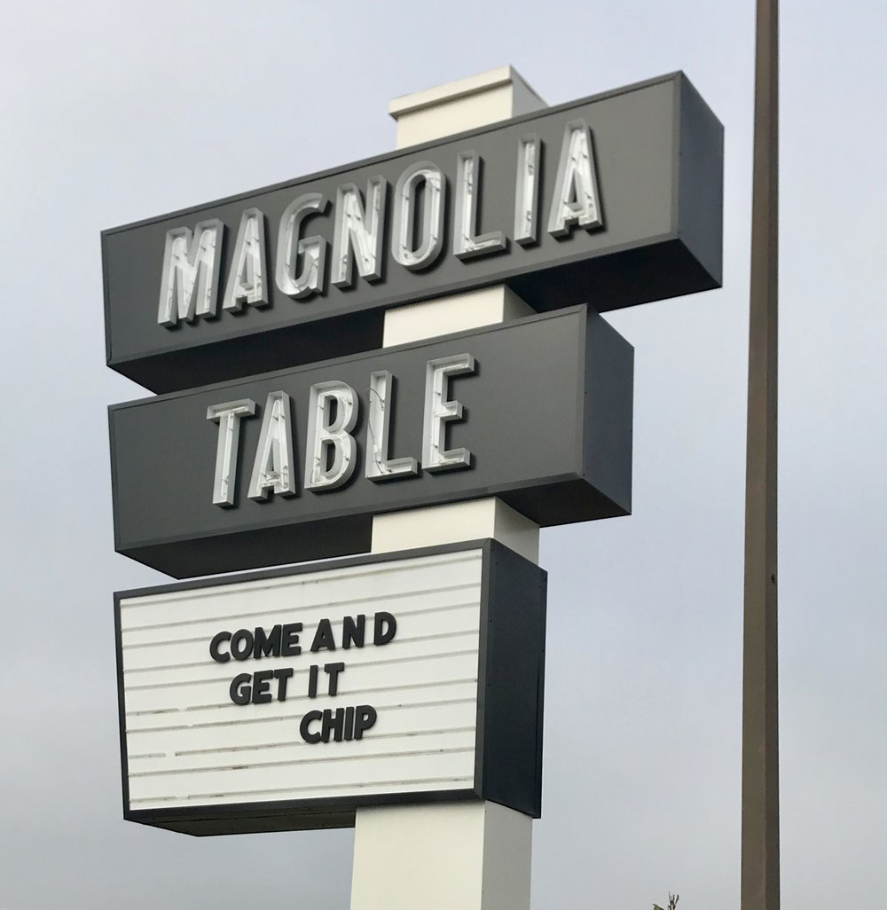 - Our first stop was the restaurant, the Magnolia Table and it was fabulous, classic and beautiful.