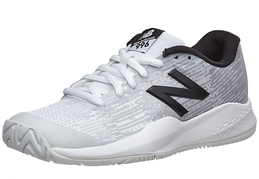 newest collection 23e2f 8cd21 New Balance 996v3 White/Black Junior Shoes — RacquetPro
