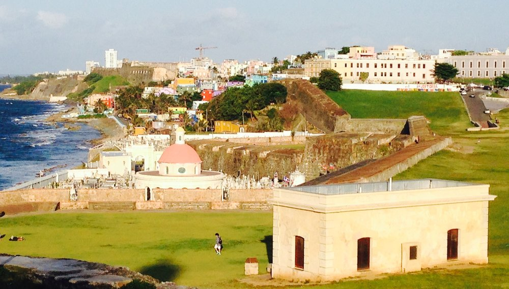 View from El Morro, Old San Juan, Puerto Rico