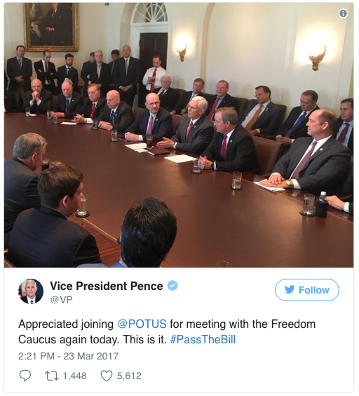 The all-male House Freedom Caucus, discussing women's healthcare