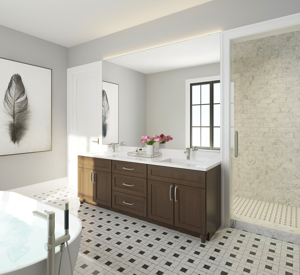 Master Bathroom - Unit 2E, 3E, 4E