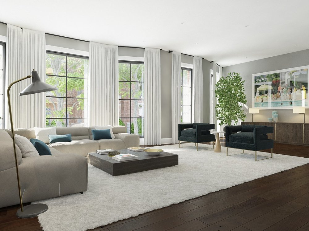 Living room - Unit 1W