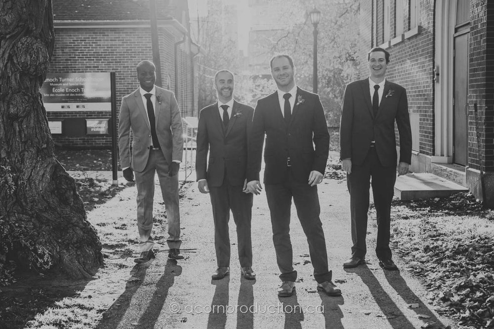 black and white groomsmen enoch turner schoolhouse