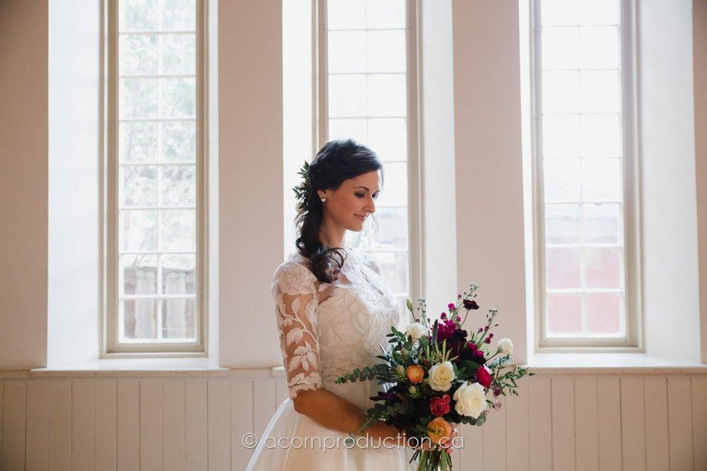 bride inside enoch turner schoolhouse toronto