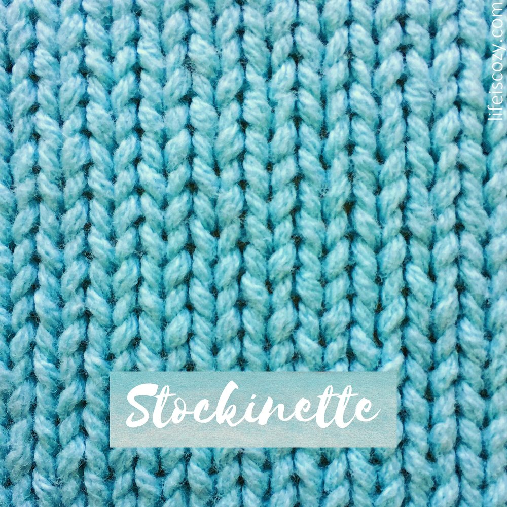 Stockinette Stitch How to knit