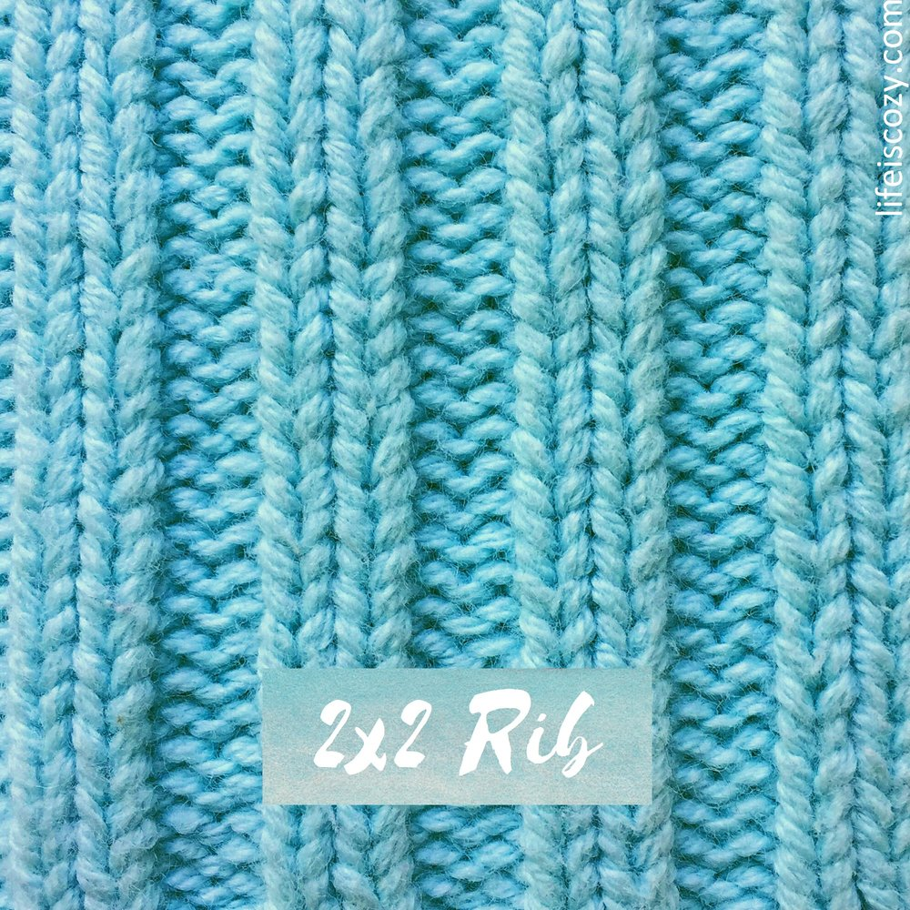 2x2 Rib Stitch Simple Ribbing How to knit