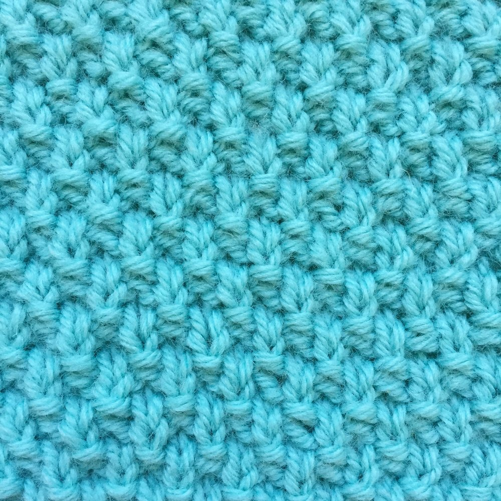 Moss Stitch How to knit