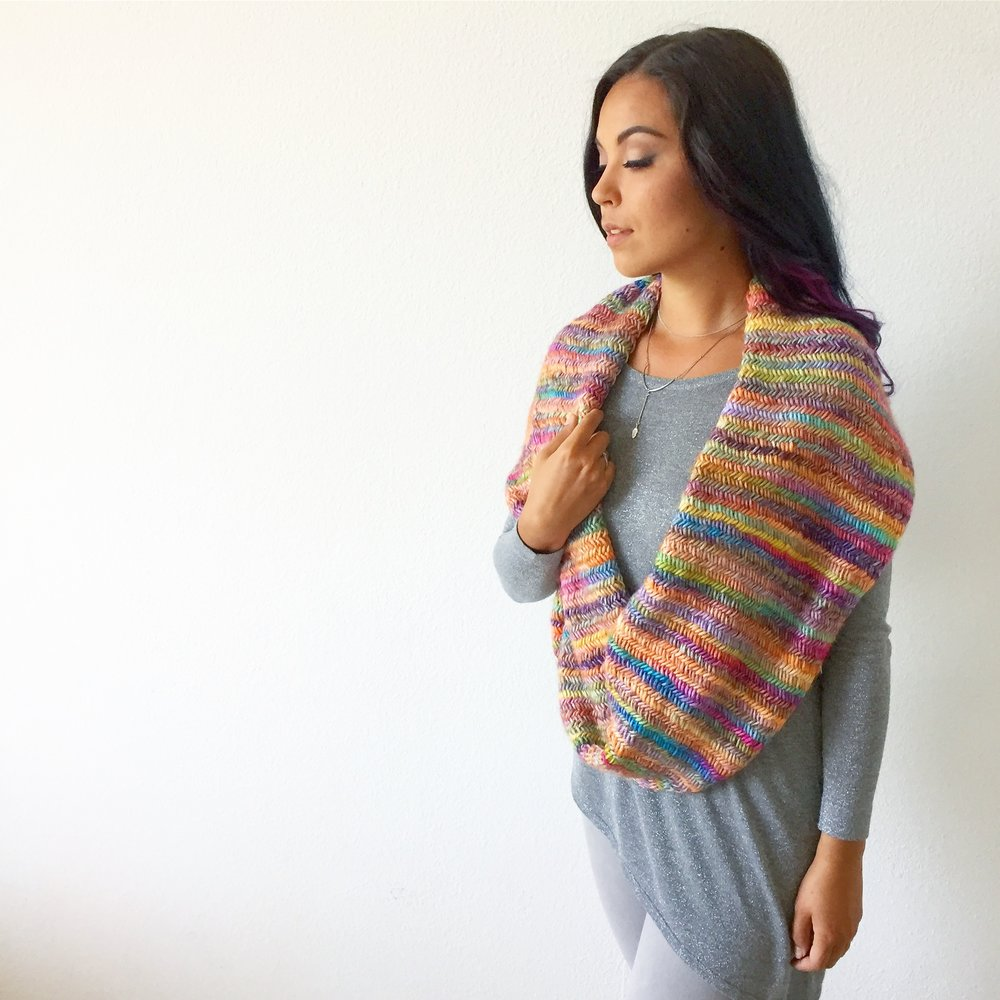 Misty Rainbow Scarf Full Length