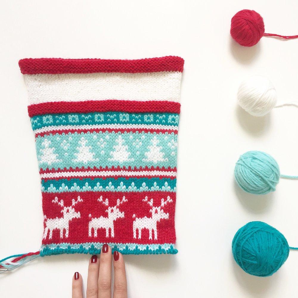 stocking-fair-isle