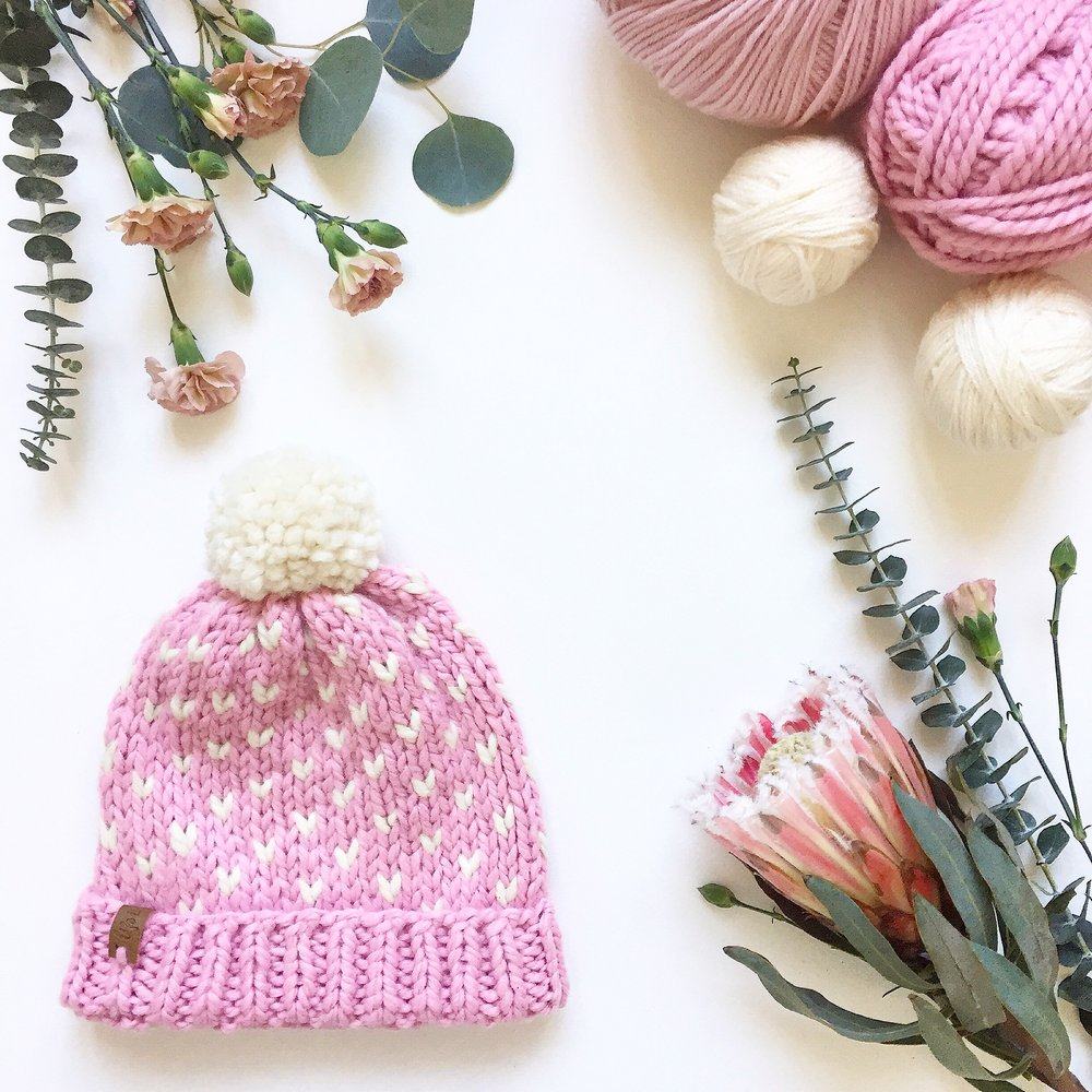 How to knit a basic fair isle hat with pompom