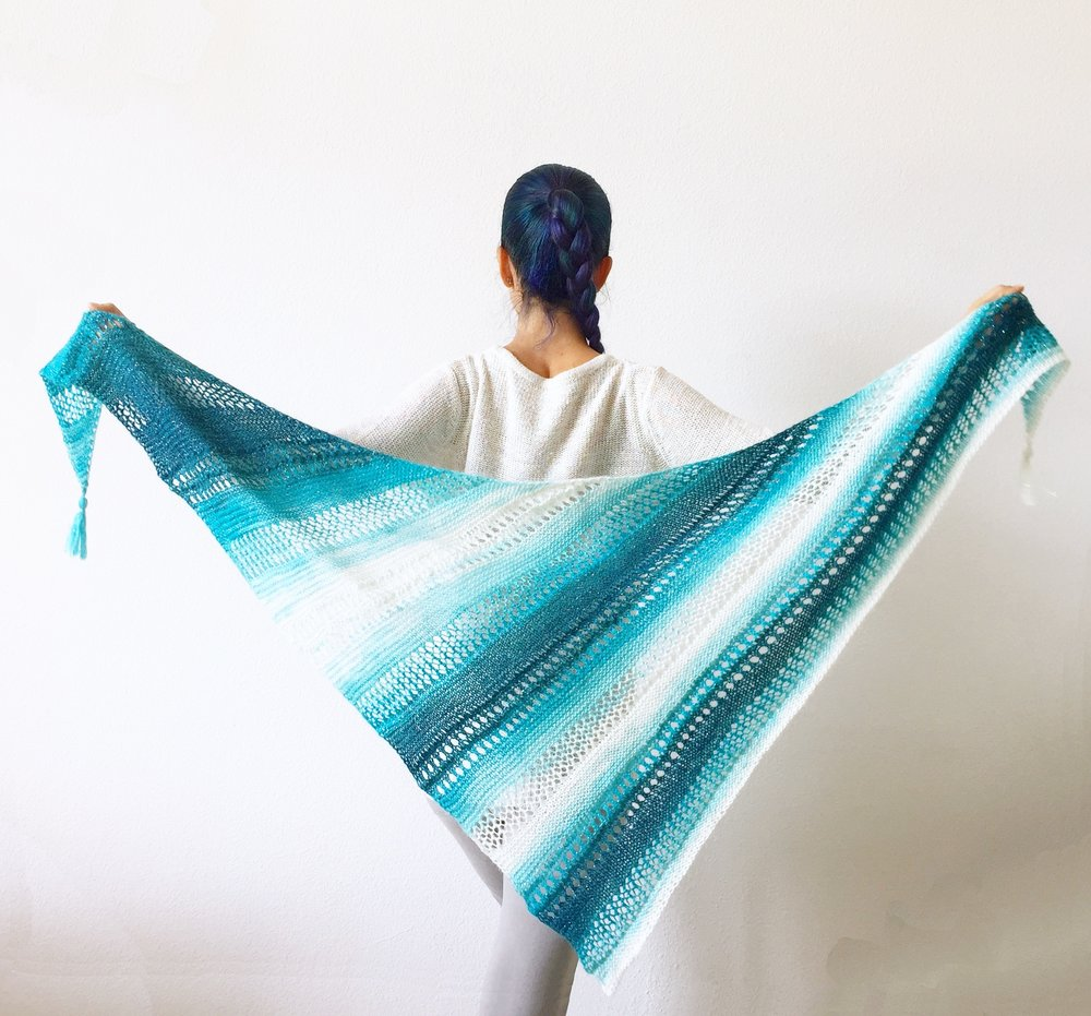 Stormy Waters Shawl Full Length