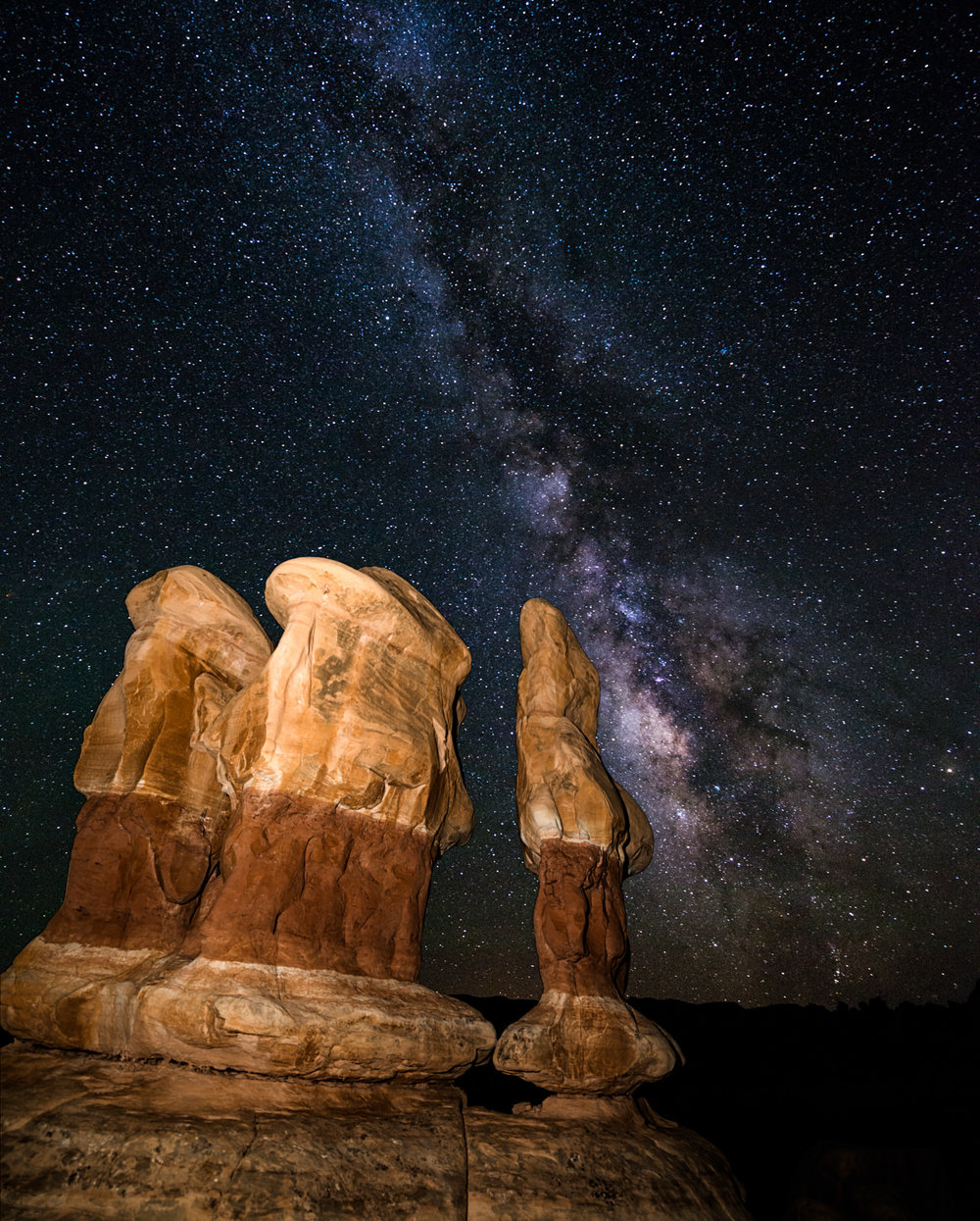 The Sentinels of Devil's Garden Face The Milky Way