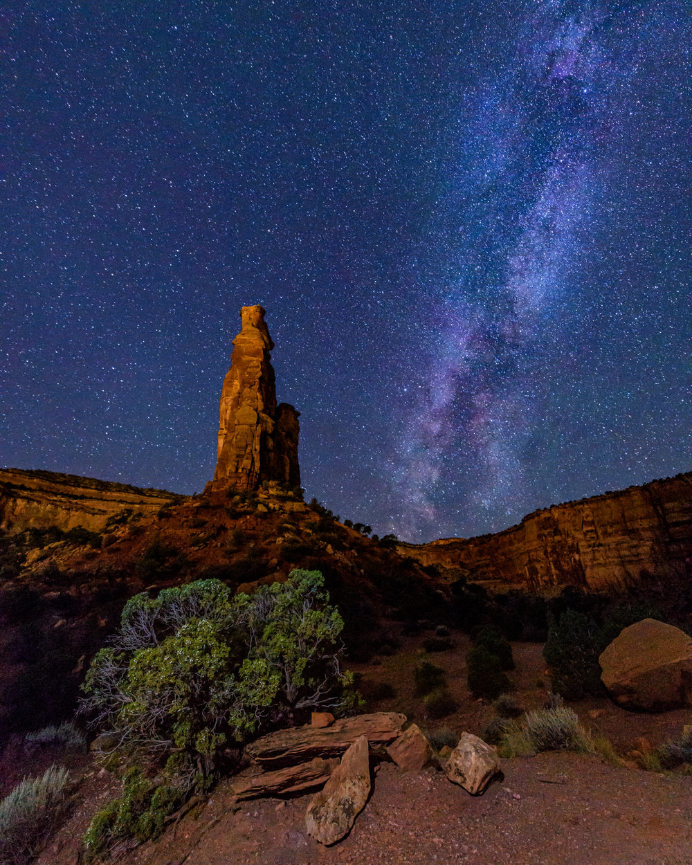Independence Monument and the Milky Way