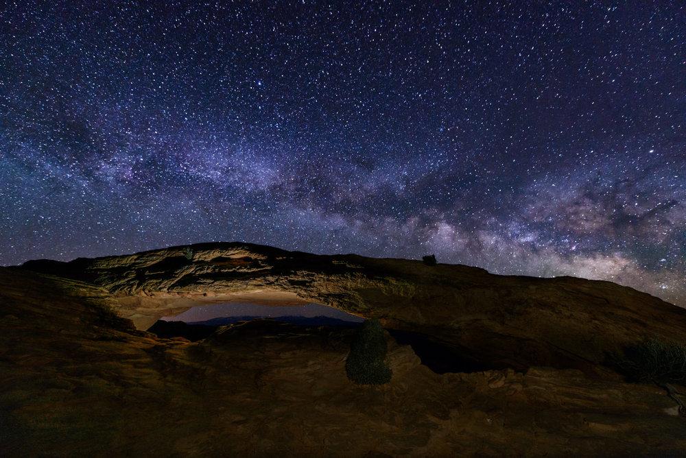Milky Way Rising Above Mesa Arch