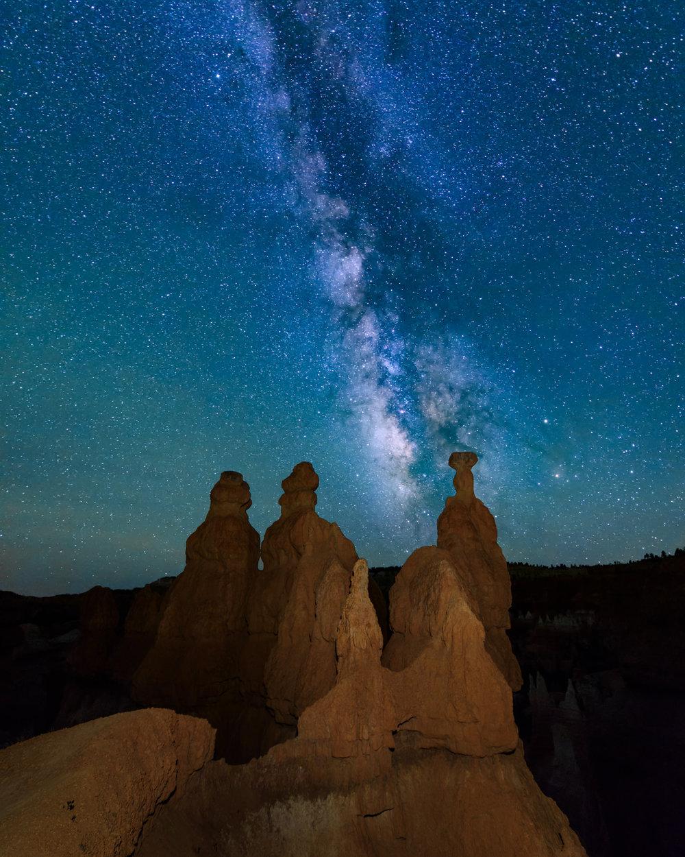 The Three Wisemen Watch the Milky Way
