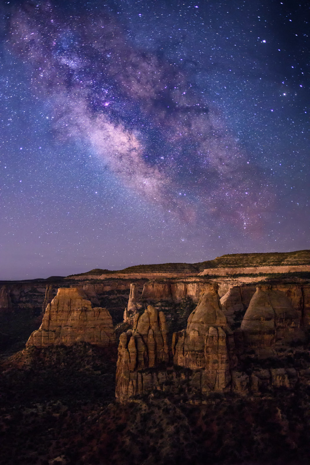 The Night Rises Above Monument Canyon