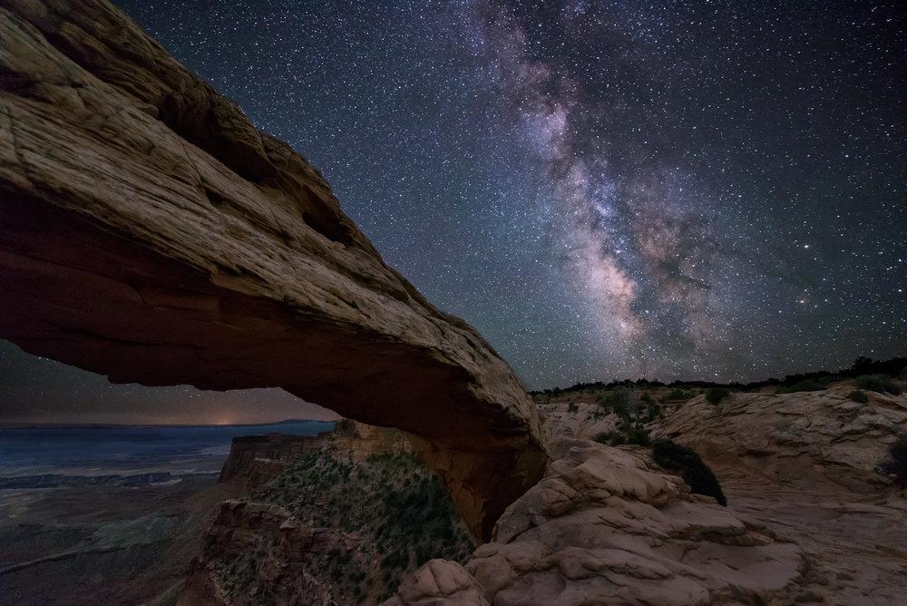 Midnight at Mesa Arch