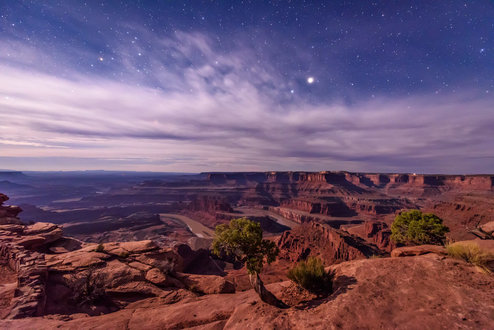 The Last Edge of Night at Dead Horse Point