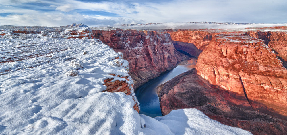 Morning Snow at Horseshoe Bend