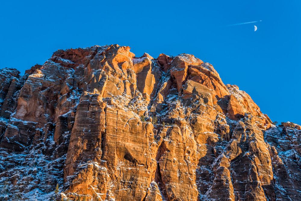 Winter Sunset, Zion Canyon